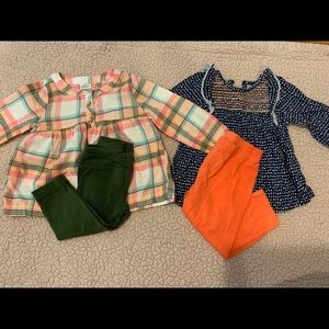 2 outfits for baby girl